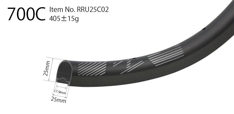 Carbon 700C 25mm wide road rim clincher 25mm deep U shape tubeless compatible high TG resin surface