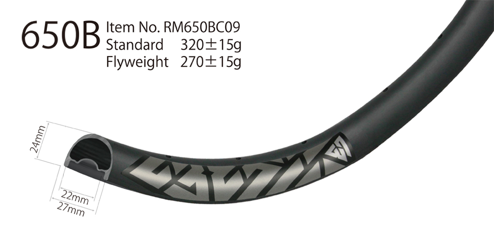XC 650B mountain bike hookless 27mm wide cross country rim tubeless compatible