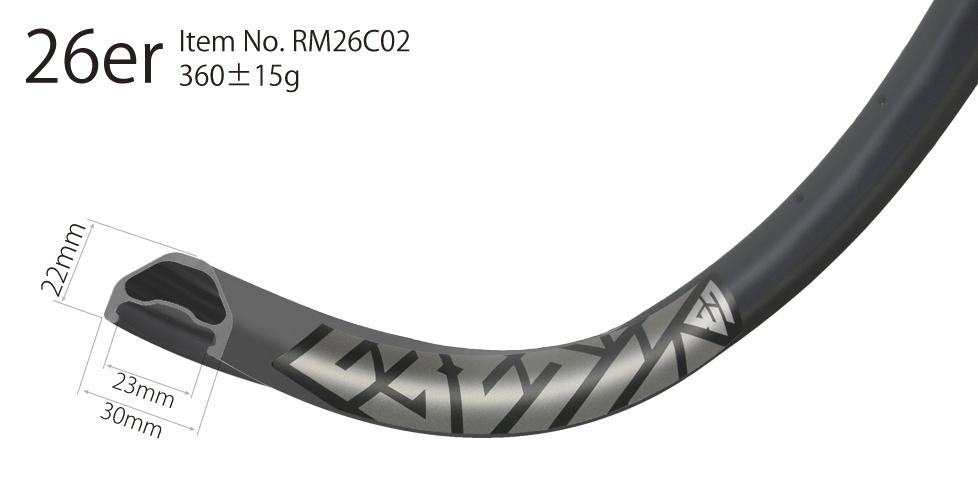 wider mtb 26er carbon bike rim 26 inch rims(tubeless-compatible)