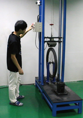 bicycle wheel impact test