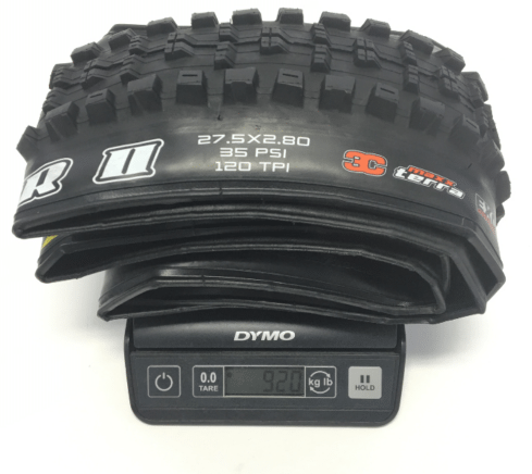 maxxis-high-roller-ii-plus-27.5-2.8-tire-actual-weight