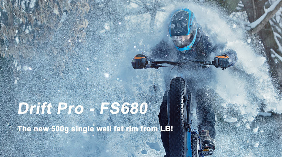 The new 500g single wall fat bike rim from LB