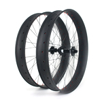 85mm wide carbon 26er fat bike wheels hookless double wall tubeless compatible