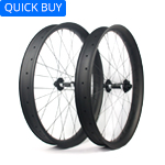 75mm wide carbon 650B fat bike wheels hookless double wall tubeless compatible