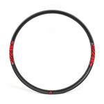 Carbon beadless 50mm wide 29 inch rims for 29 plus mountain bikes tubeless compatible