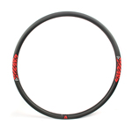 U shape 29er rim 30mm wide hookless MTB bike carbon rims tubeless compatible