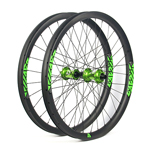 Hand-built carbon AM733 asymmetric 27.5 mtb Enduro 650B wheels tubeless compatible