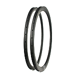 Road bicycle disc rims 28mm wide 36mm deep aero clincher
