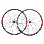 700C disc bike wheels 27mm wide 24mm deep clincher for cyclocross road and gravel bikes