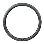 700C 32mm wide 45mm deep carbon road disc rim clincher New Gen Aero Shape tubeless compatible
