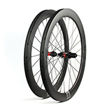 700C V-shape 56mm depth hand-built carbon road wheels - 30mm wide and tubeless compatible