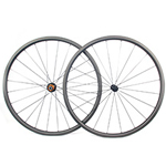 New Gen Aero Shape 25mm depth Hand-built 700C carbon 25mm wide clincher road disc bicycle wheels for tubeless compatible