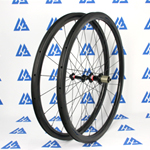 U shape 35mm depth Hand-built 700C carbon 25mm wide clincher road bicycle wheels for tubeless compatible