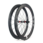 New Gen Aero Shape 55mm depth Hand-built 700C carbon 25mm wide clincher road disc bicycle wheels with tubeless compatible