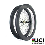 New Gen Aero Shape 65mm depth Hand-built 700C carbon 25.85mm wide clincher road disc bicycle wheels with tubeless compatible