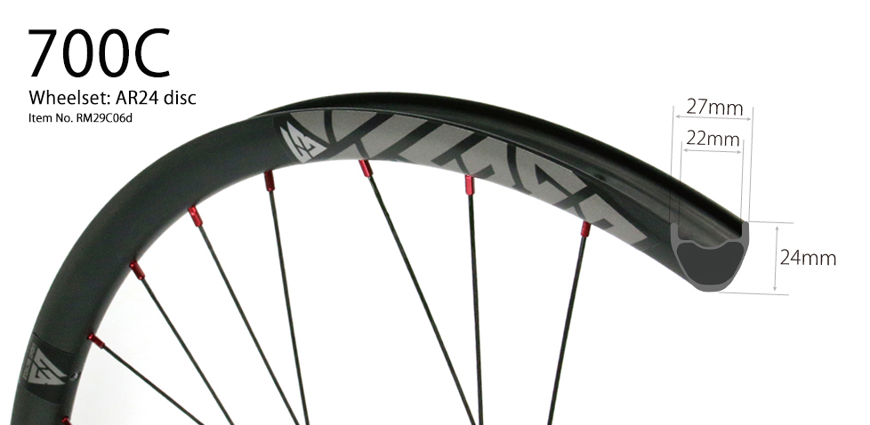 27mm wide gravel carbon wheels