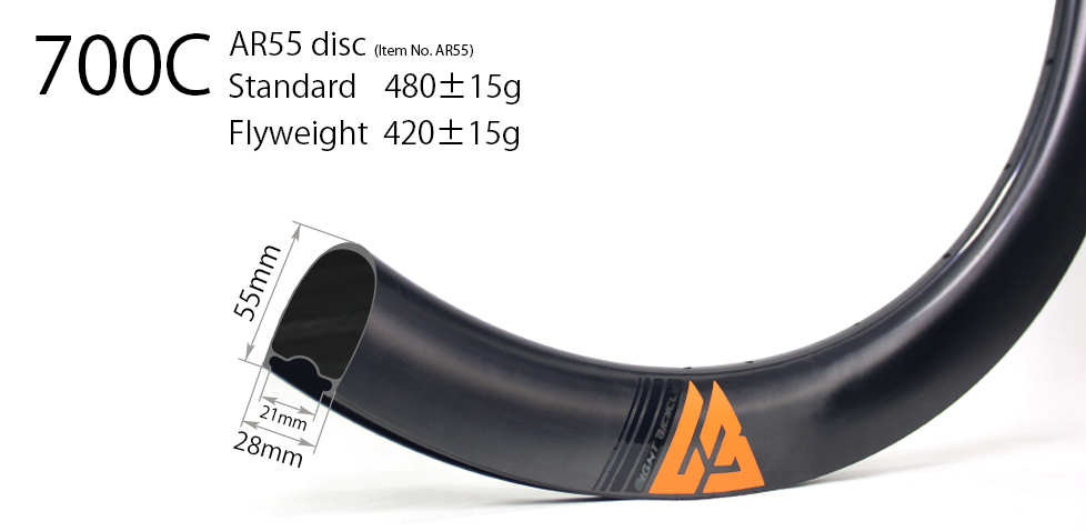 AR55 carbon bicycle wheels
