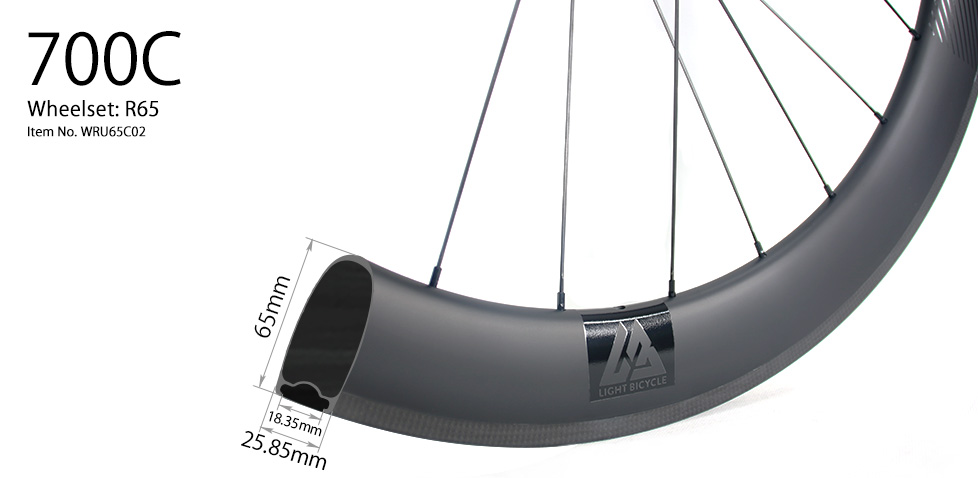 R65 carbon road wheels