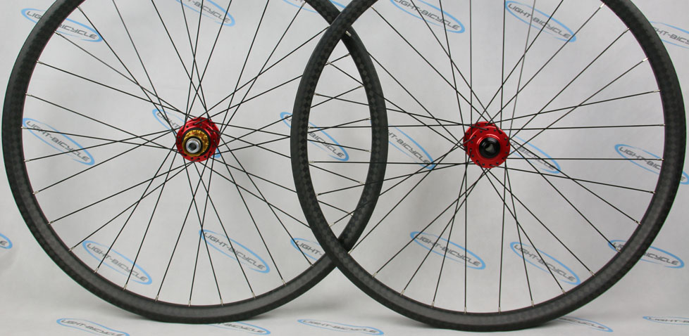 Beadless Carbon 650b Mountain Bike Wheelset With 35mm Wide