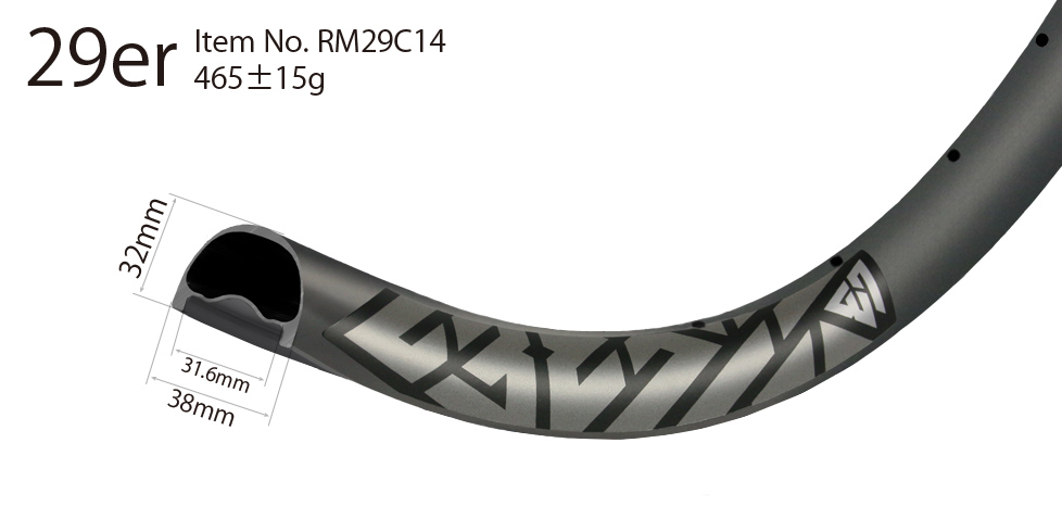 Carbon 29er wide rims