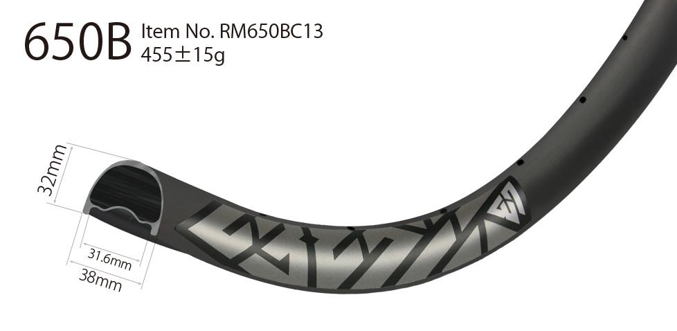 Downhill 650B carbon rim