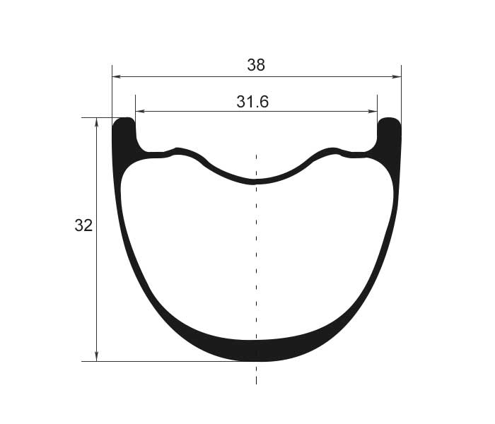MTB carbon rim profile