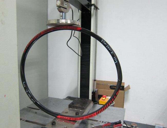 carbon 29er hook less rim impact test