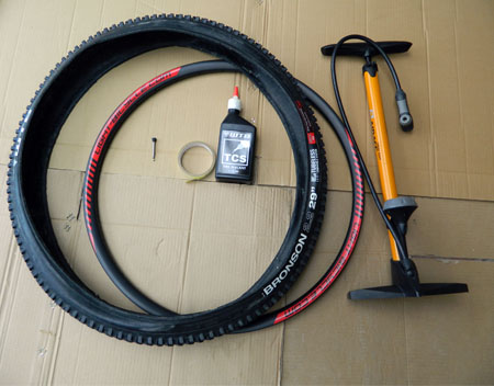 prepare to mount the tubeless tire