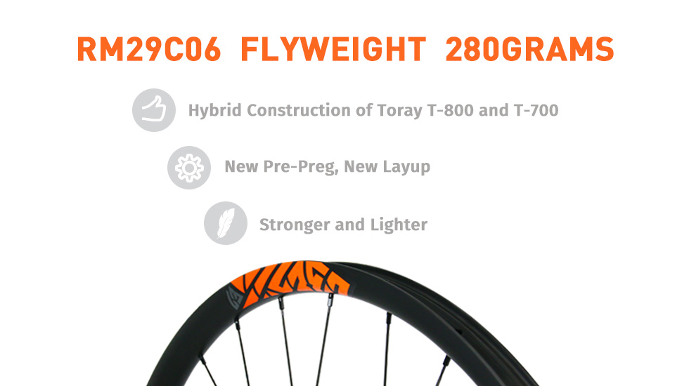 29er Light Carbon Bicycle Cyclocross Mountain Rim 27mm Tubeless Ready