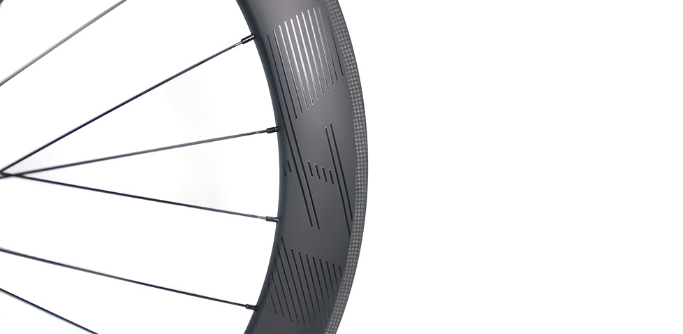 DT Swiss hubs laced with carbon road rims