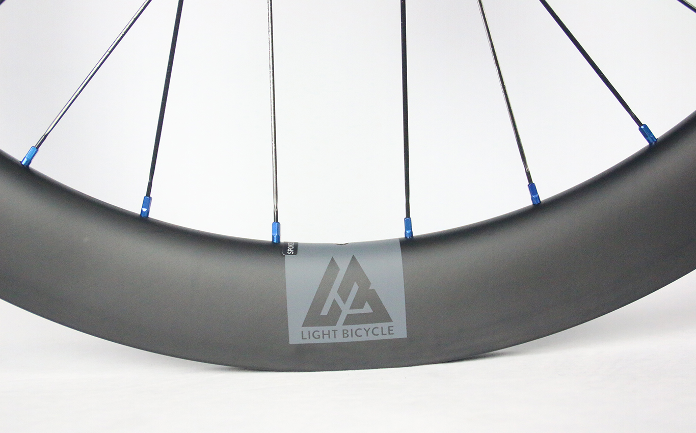 Light-Bicycle-valve-grey-decal-on-55mm-carbon-rim
