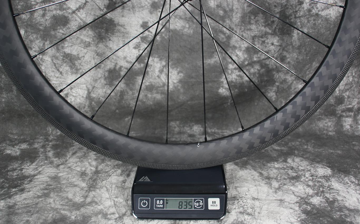 Measured-weight-of-AR46-non-disc-carbon-rim-laced-to-DT-Swiss-350-sp-road-bike-hub-rear-shimano-road-11sp