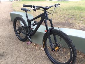 650b Light Bicycle MTB carbon rim built with Chris King hub