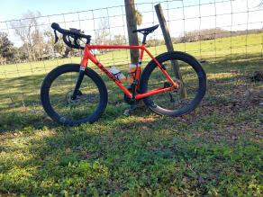 carbon-fiber-700c-AR56-disc-rims-grey-decals-pirelli-p-zero-road-tire-orange-trek-road-bike