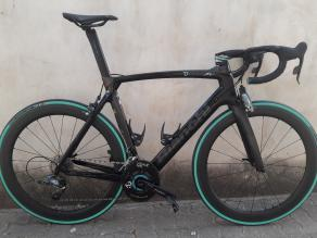 Light-Bicycle-R55-non-disc-55mm-deep-carbon-fiber-rims-laced-to-novatec-a291sb-sl-front-f482sb-sl-rear-on-bianchi-oltre-xr4-road-bike